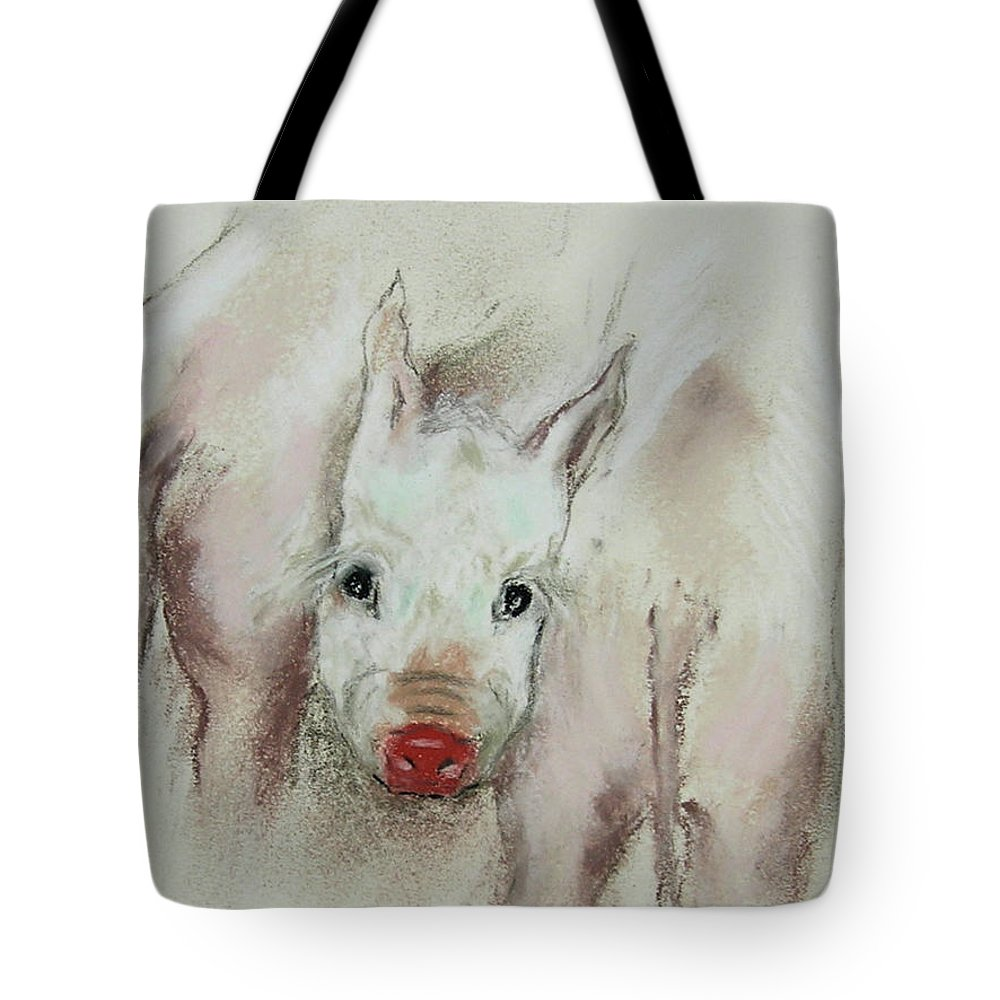 Animal Tote Bag featuring the drawing Stuck In The Middle by Cori Solomon