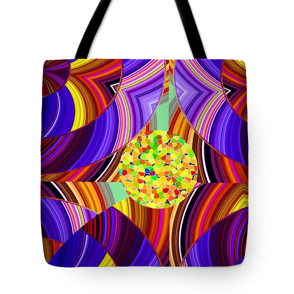 ruth Palmer Tote Bag featuring the digital art Stuck In The Middle by Ruth Palmer
