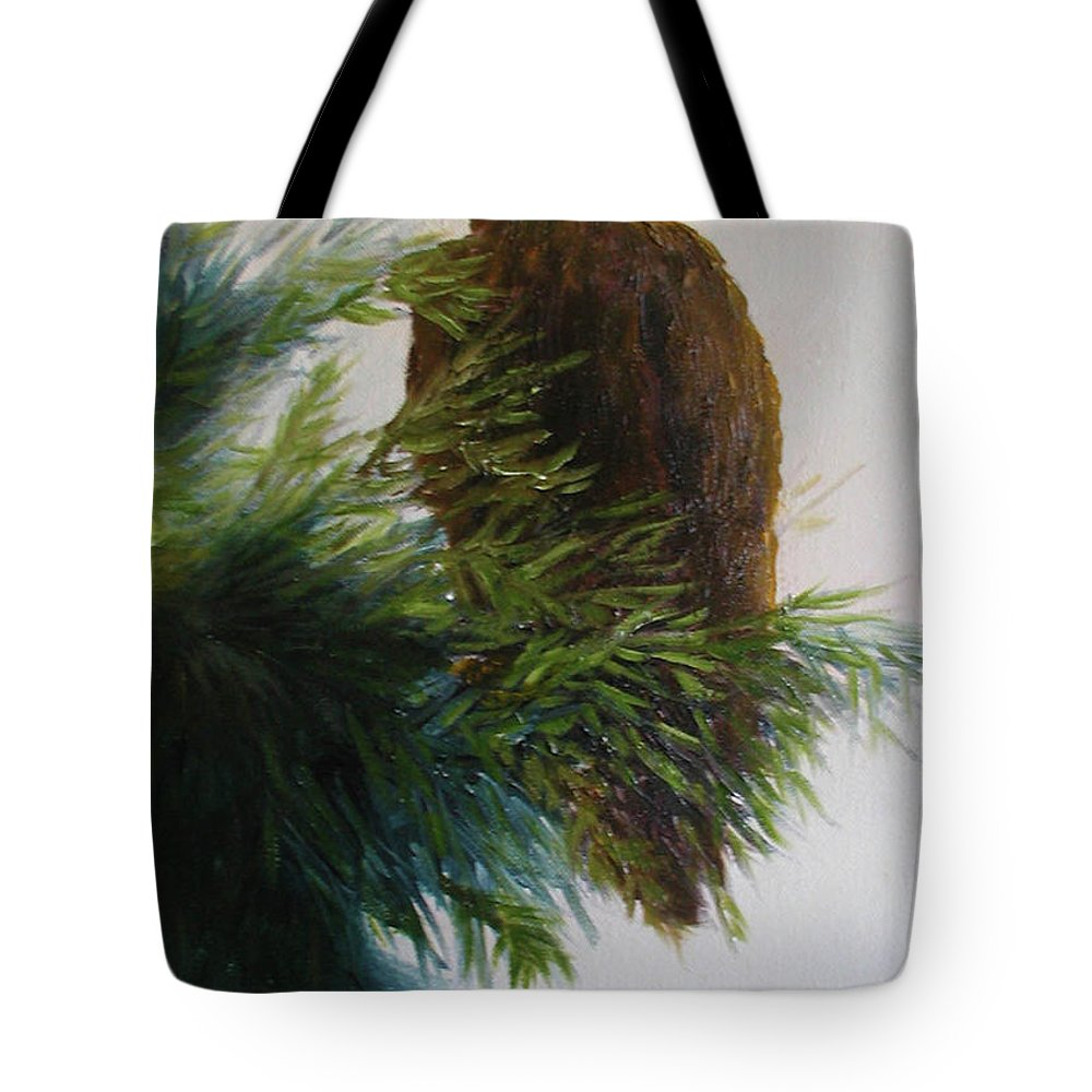 Eagle Tote Bag featuring the painting Study, Eagle by Sunny Franson