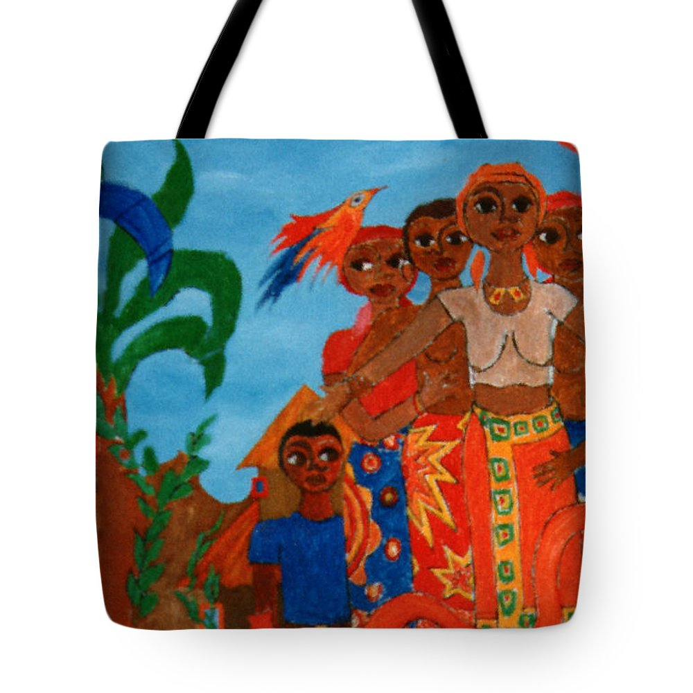 Study Tote Bag featuring the painting Study To Motherland A Place Of Exile by Madalena Lobao-Tello
