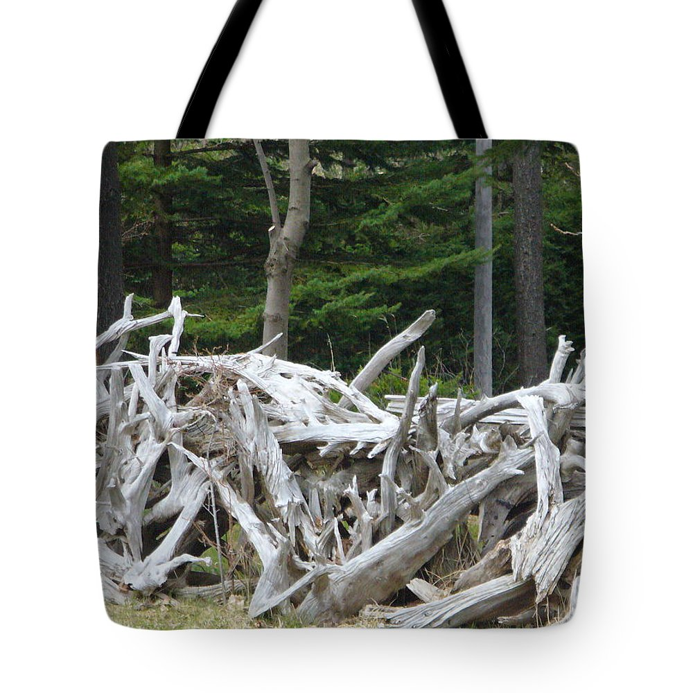 Stump Tote Bag featuring the photograph Stumped by Peggy King