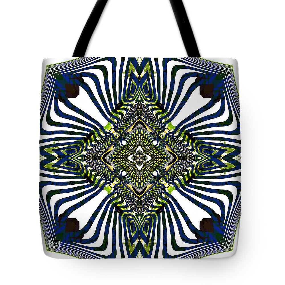 Abstract Tote Bag featuring the digital art Stylish Interior by Jim Pavelle