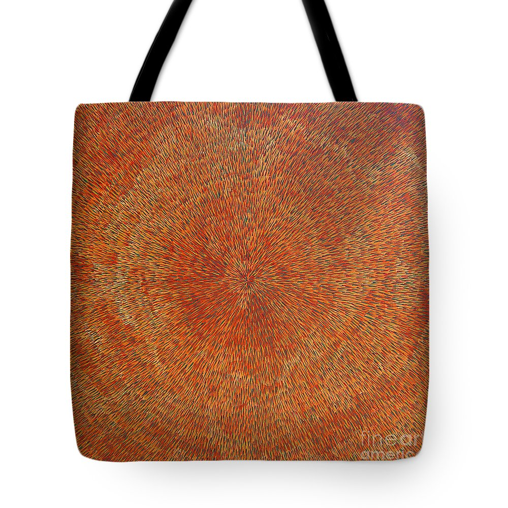 Abstract Tote Bag featuring the painting Su Gaia Earth by Dean Triolo