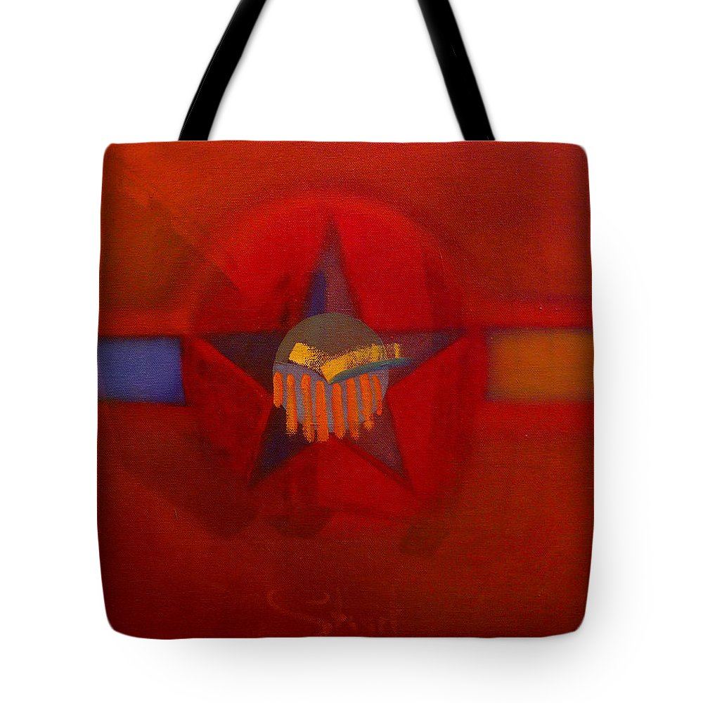 Warm Tote Bag featuring the painting Sub Decal by Charles Stuart