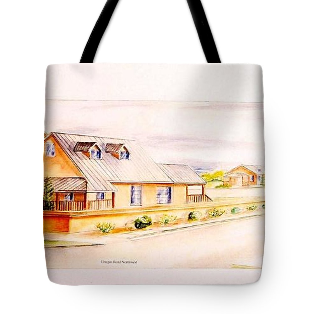 Architectural Renderings Tote Bag featuring the painting Subdivison Rendering by Eric Schiabor