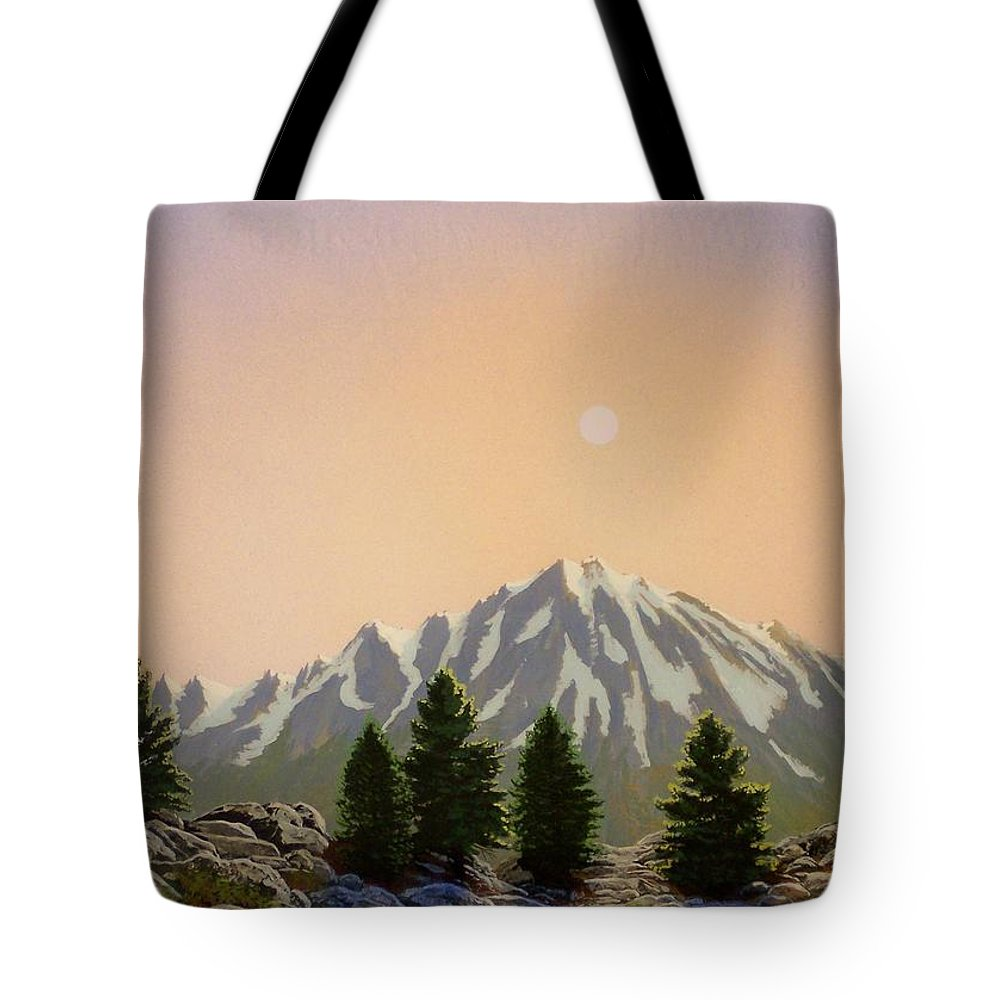 Landscape Tote Bag featuring the painting Sublime Sierra Light by Frank Wilson