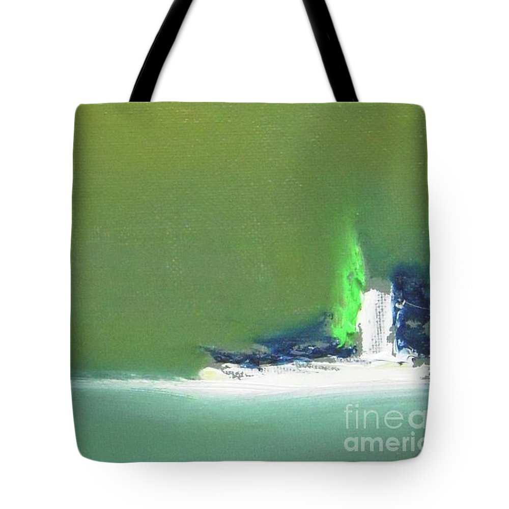 Abstract Tote Bag featuring the painting Submarine by Vesna Antic