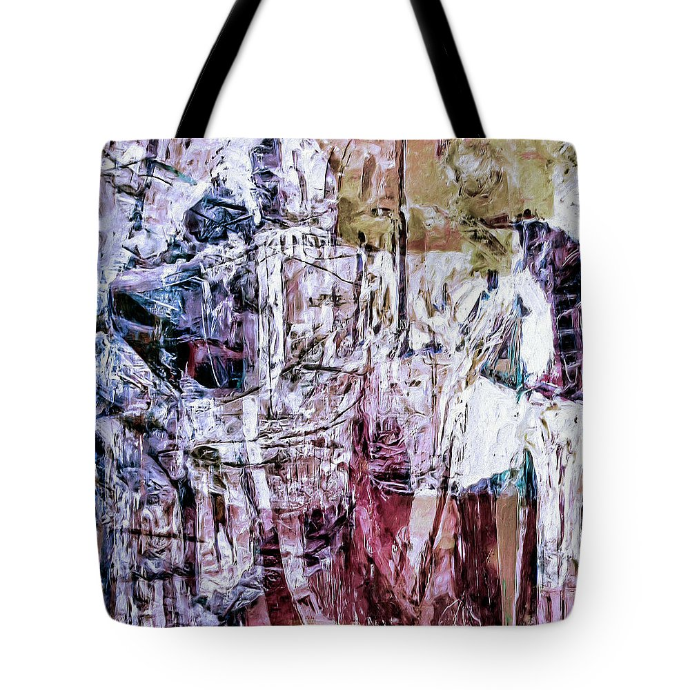 Abstract Tote Bag featuring the painting Subterranean by Dominic Piperata