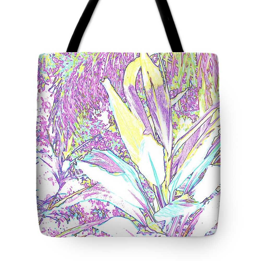 Abstract Tote Bag featuring the photograph Subtle Leaf by Ian MacDonald