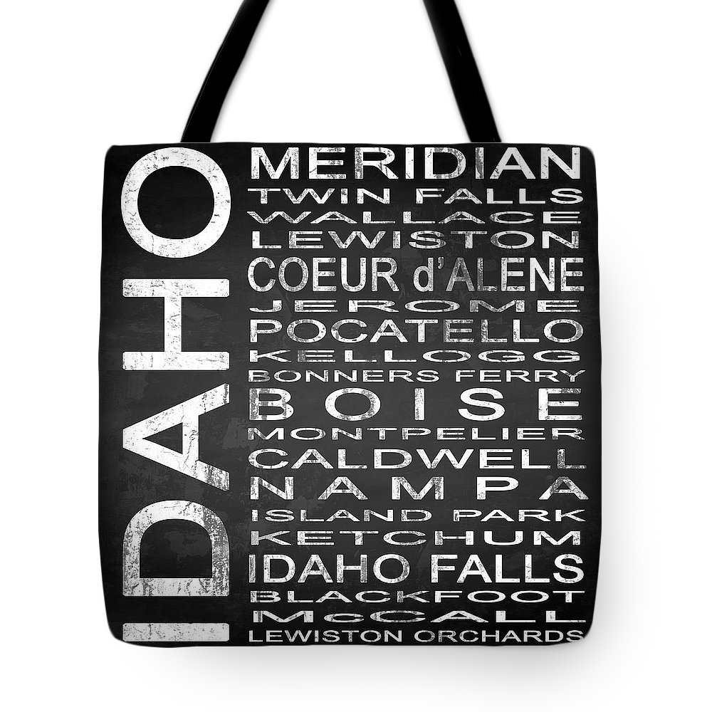 Subway Sign Tote Bag featuring the digital art Subway Idaho State Square by Melissa Smith