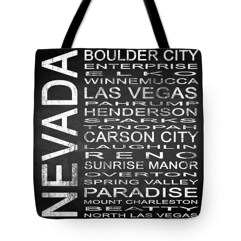 Subway Sign Tote Bag featuring the digital art Subway Nevada State Square by Melissa Smith