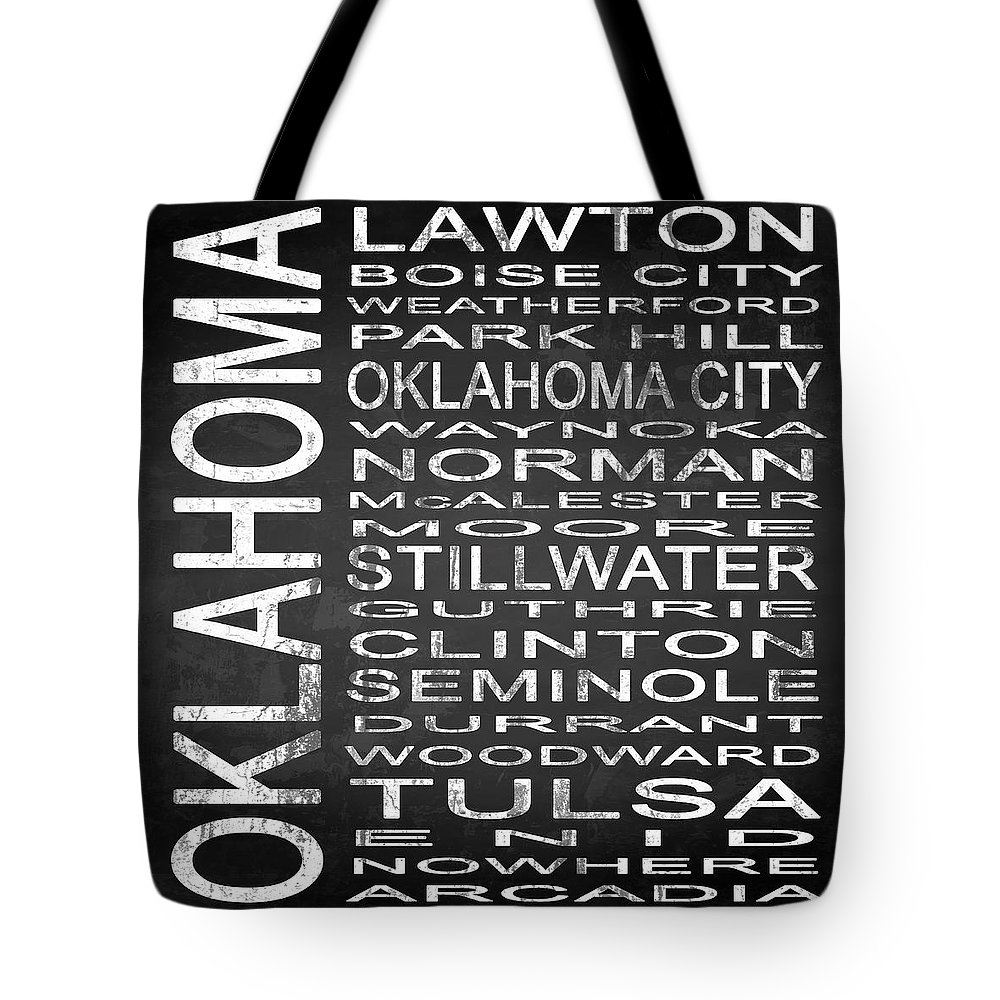 Subway Sign Tote Bag featuring the digital art Subway Oklahoma State Square by Melissa Smith