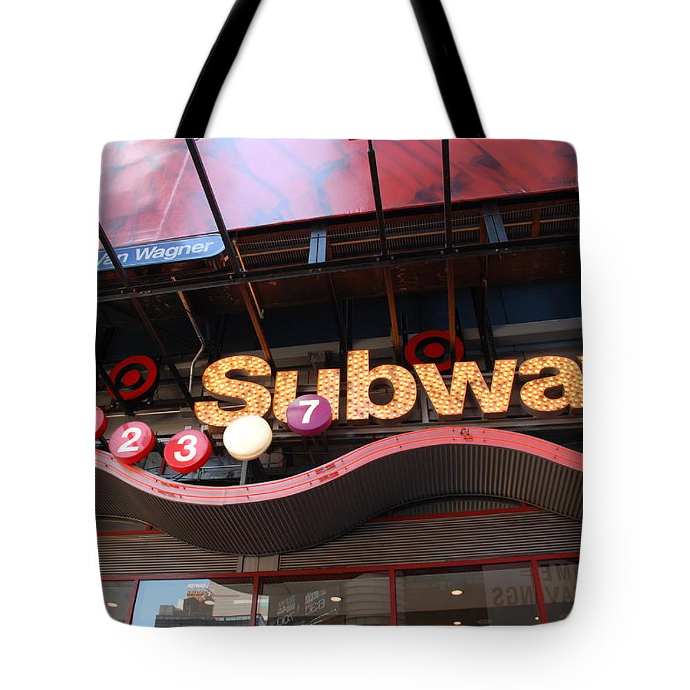 Neon Tote Bag featuring the photograph Subway by Rob Hans