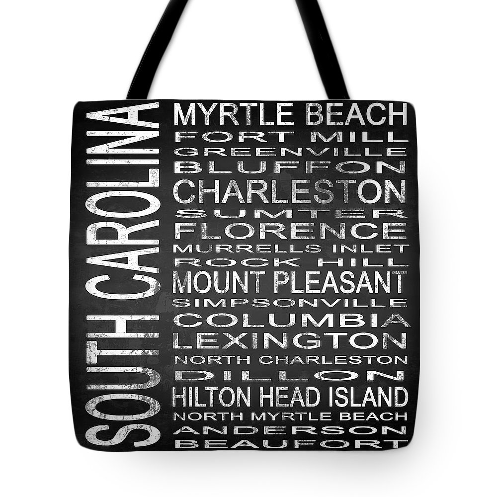 Subway Sign Tote Bag featuring the digital art Subway South Carolina State Square by Melissa Smith