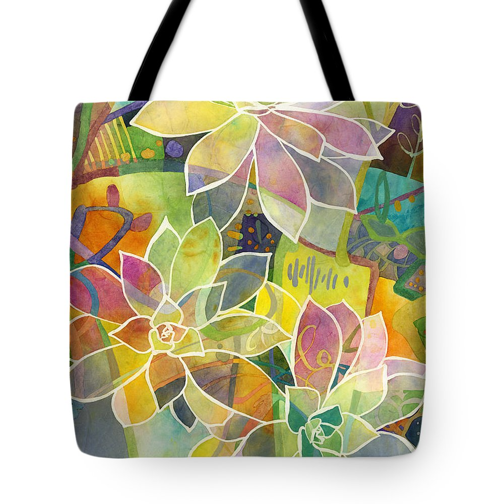 Succulent Tote Bag featuring the painting Succulent Mirage 1 by Hailey E Herrera