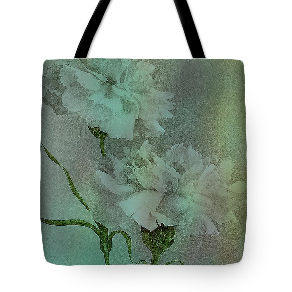 Flowers Tote Bag featuring the digital art Such Serviceable Flowers by Sarah Vernon