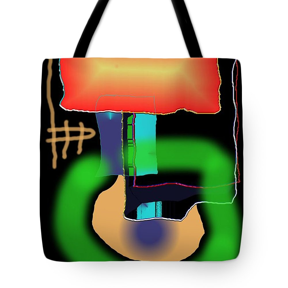 Mouse Tote Bag featuring the digital art Suddenclicks by Helmut Rottler