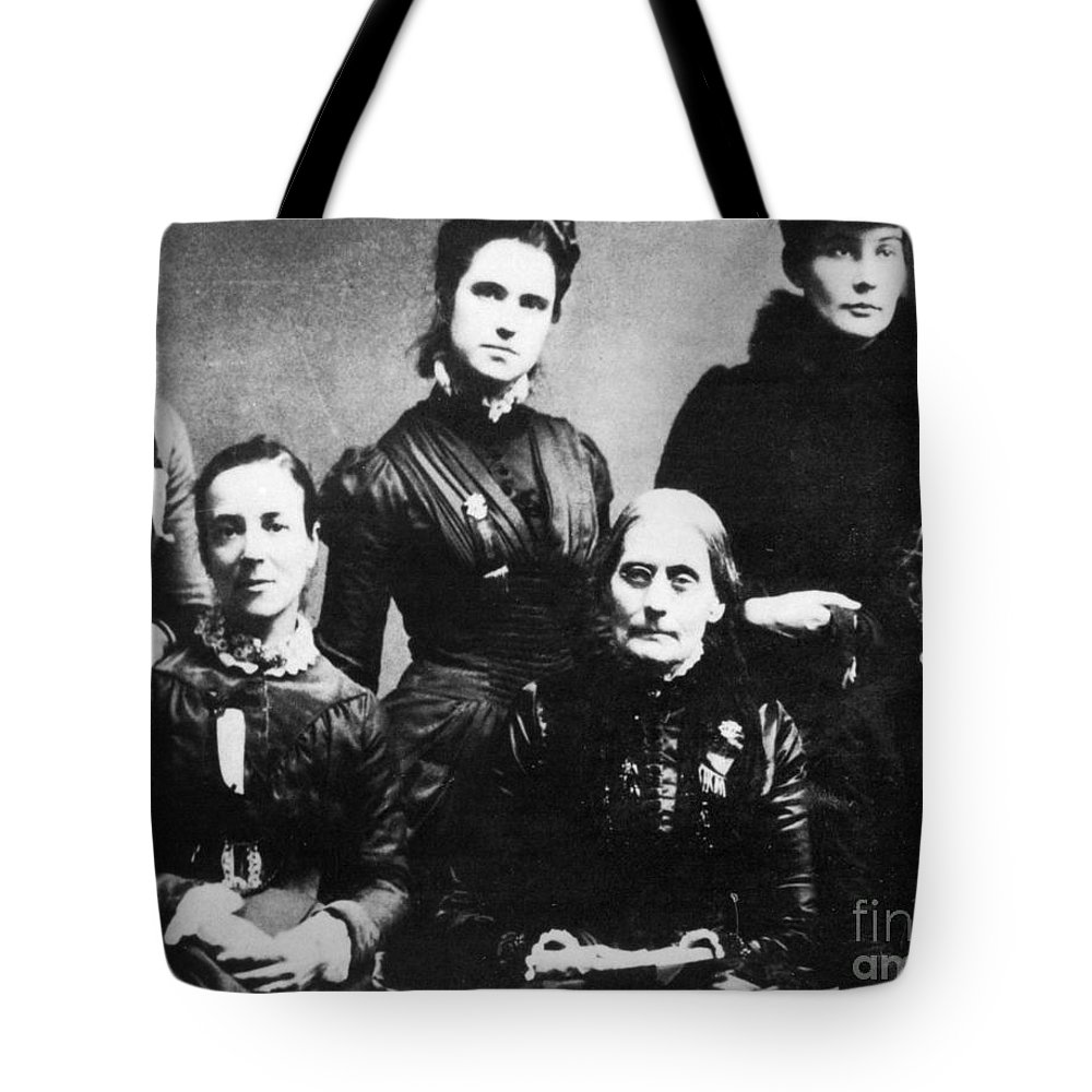 1888 Tote Bag featuring the photograph Suffragettes, 1888 by Granger