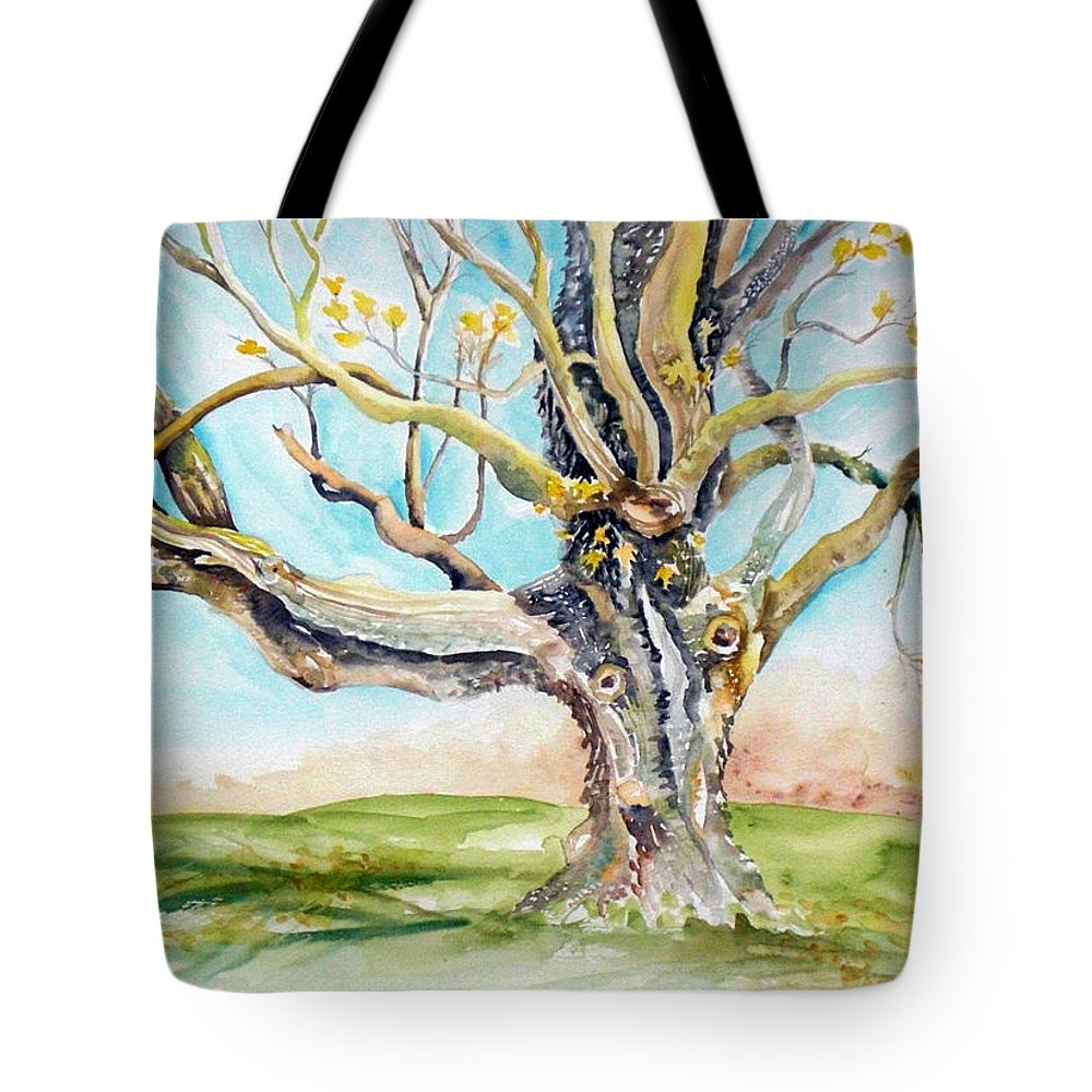 Trees Tote Bag featuring the painting Sugar Maple On Mutton Lane by Kathy Sturr