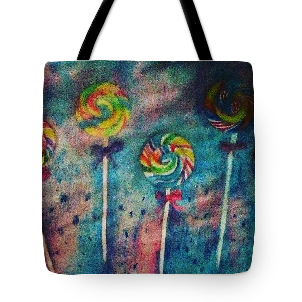 Candy Tote Bag featuring the painting Sugar Rush by Sunshine Amos