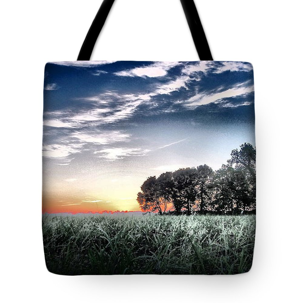 Landscape Tote Bag featuring the photograph Sugarcane Fields by Gina Welch
