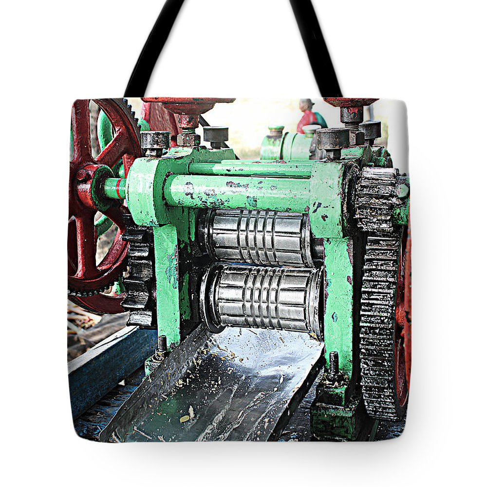 Sugarcane Tote Bag featuring the photograph Sugarcane Juice by Varun Arora