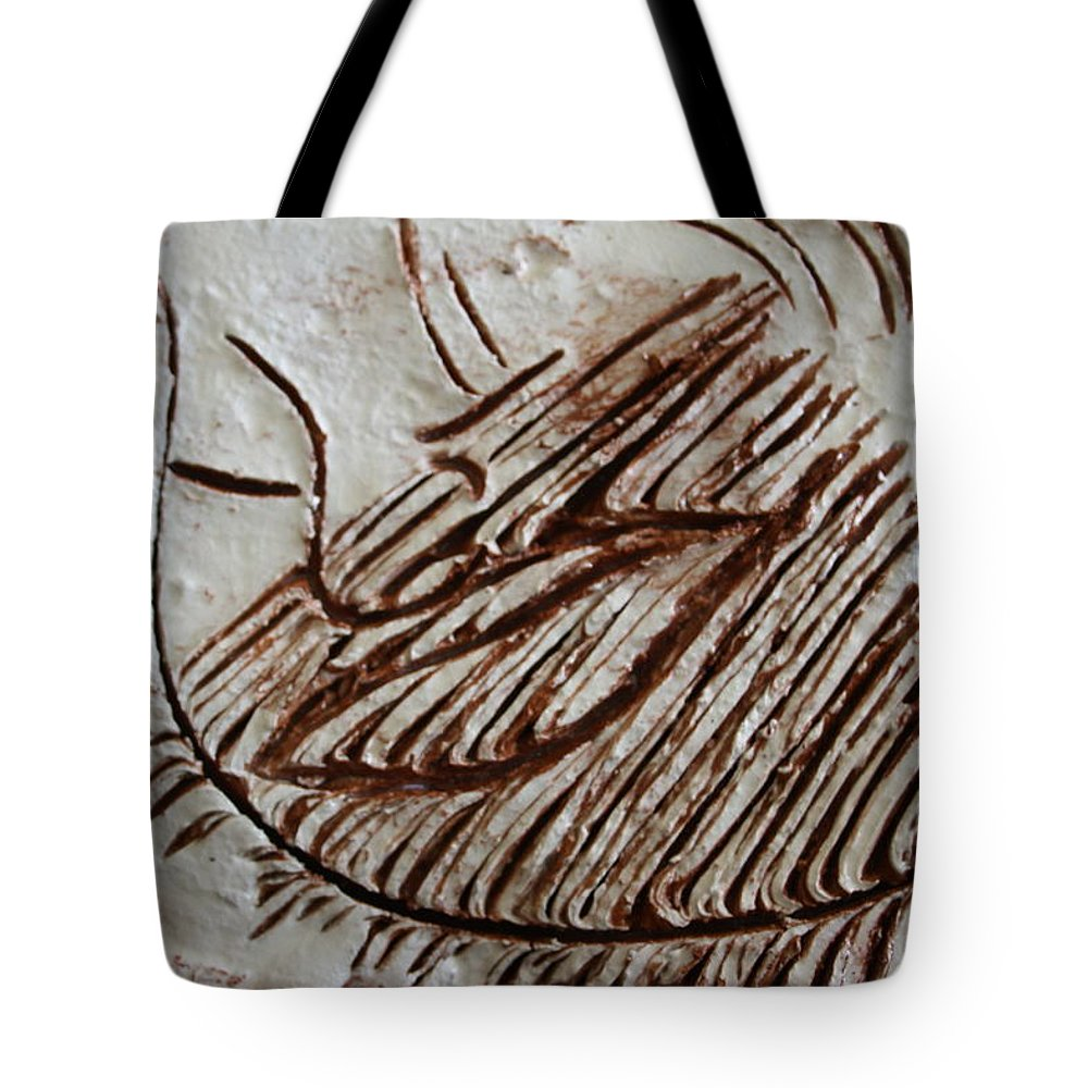 Jesus Tote Bag featuring the ceramic art Sugared - Tile by Gloria Ssali