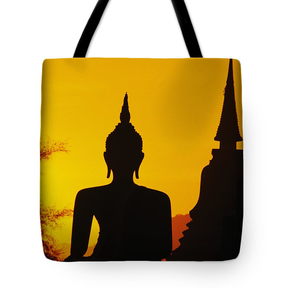 Ancient Tote Bag featuring the photograph Sukhothai Temple by Gloria & Richard Maschmeyer - Printscapes