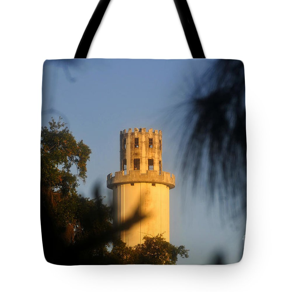 Sulphur Springs Florida Tote Bag featuring the photograph Sulphur Springs Tower by David Lee Thompson