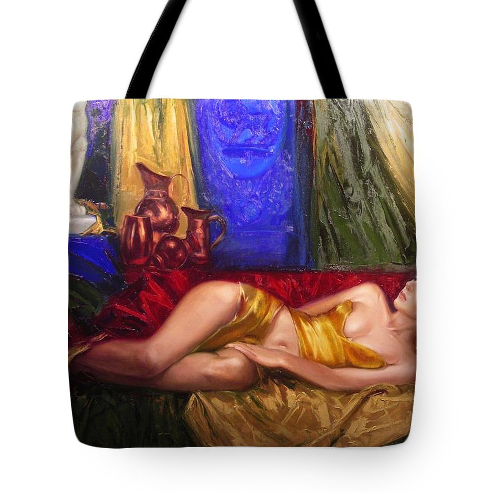 Art Tote Bag featuring the painting Sultan Spouse by Sergey Ignatenko