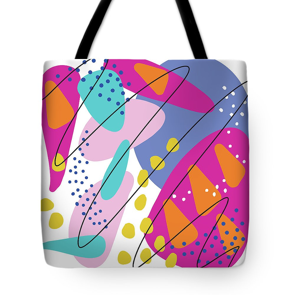 Drawing Tote Bag featuring the drawing Summer Abstraction 3 by Mari Biro