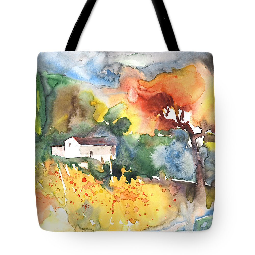 Watercolour Tote Bag featuring the painting Summer Afternoon by Miki De Goodaboom