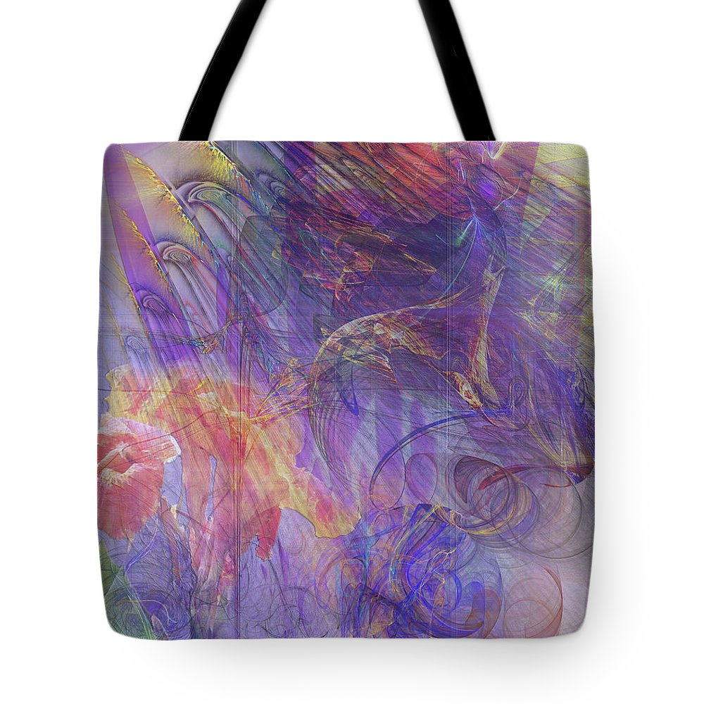 Summer Awakes Tote Bag featuring the digital art Summer Awakes by John Beck