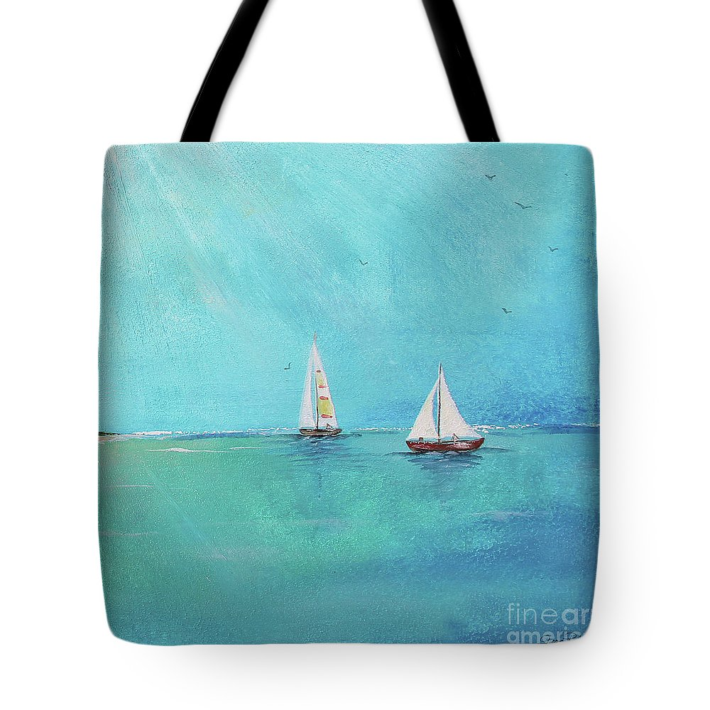 Summer Tote Bag featuring the painting Summer Breeze-e by Jean Plout