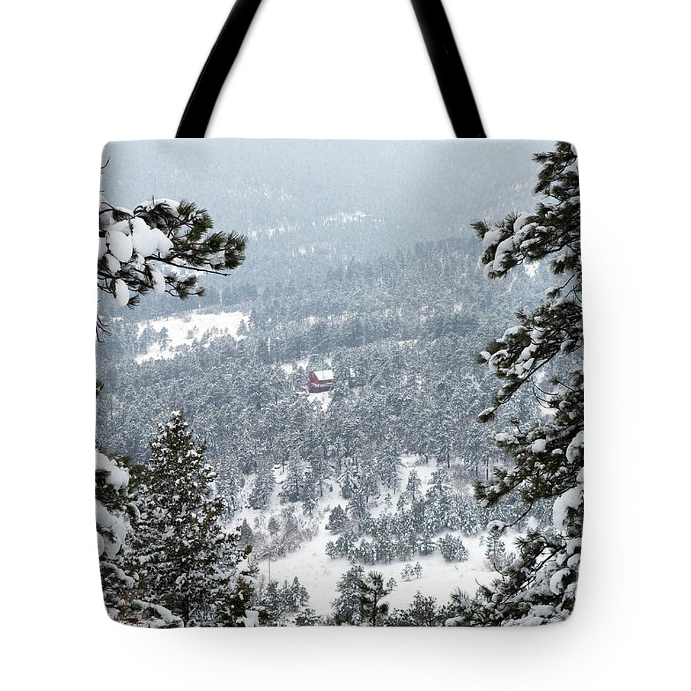 Evergreen Tote Bag featuring the photograph Evergreen by Kimberly Noxon