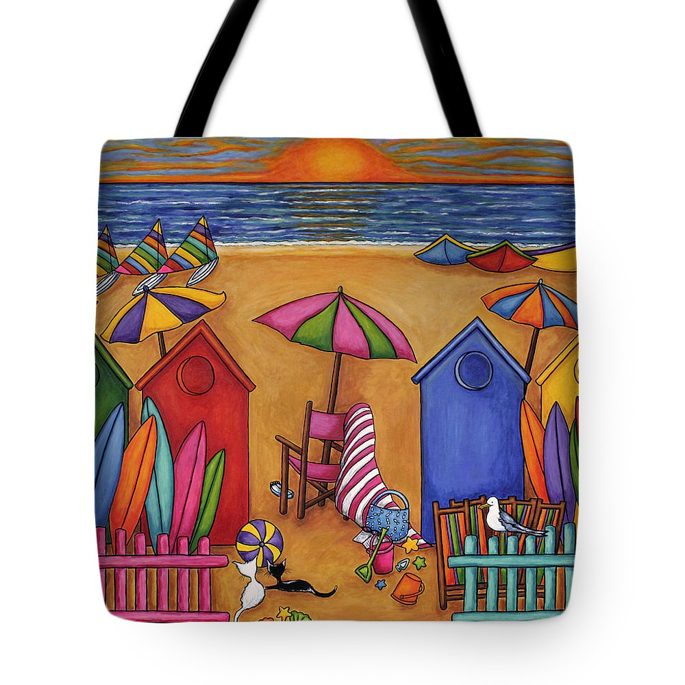 Summer Tote Bag featuring the painting Summer Delight by Lisa Lorenz