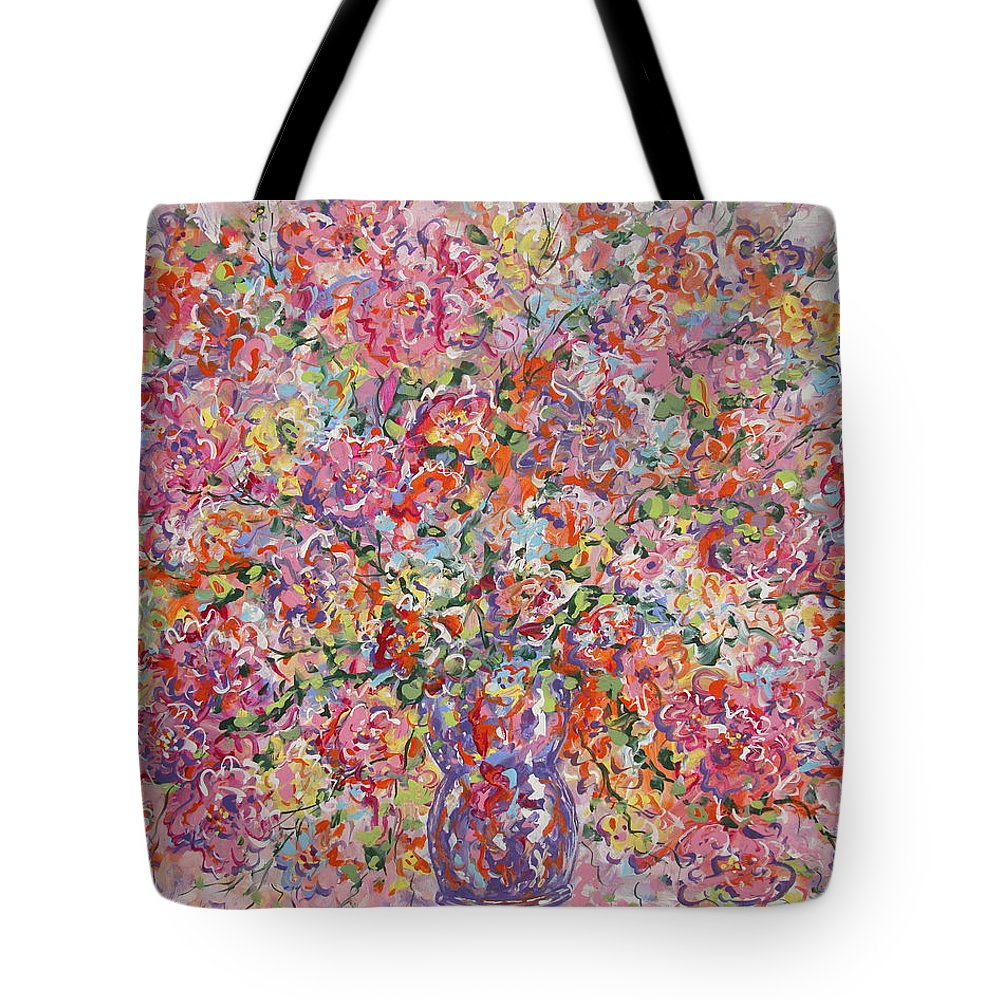 Painting Tote Bag featuring the painting Summer Flowers by Leonard Holland