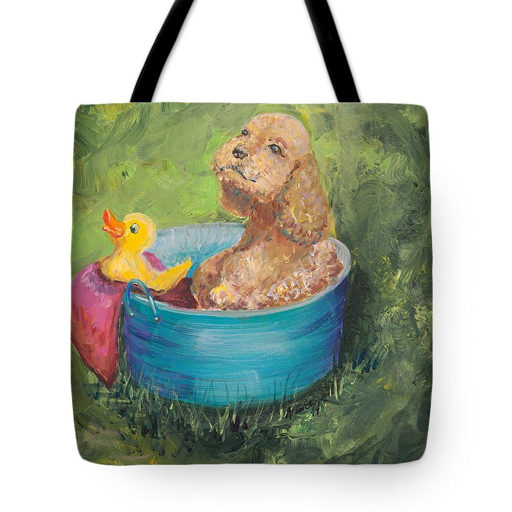 Dog Tote Bag featuring the painting Summer Fun by Nadine Rippelmeyer