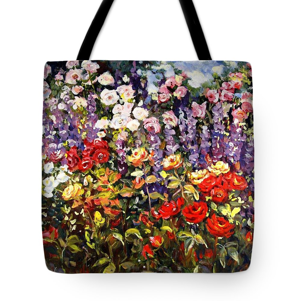 Ingrid Dohm Tote Bag featuring the painting Summer Garden II by Ingrid Dohm