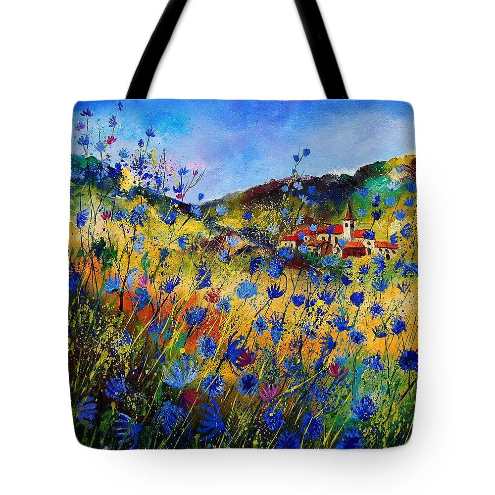Flowers Tote Bag featuring the painting Summer Glory by Pol Ledent