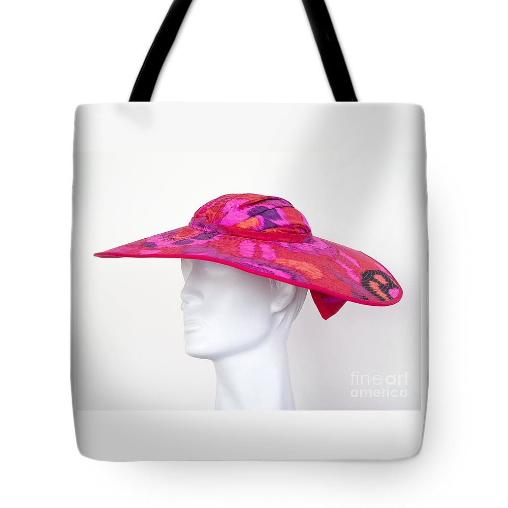 Hat Tote Bag featuring the photograph Summer Hat by Ann Horn