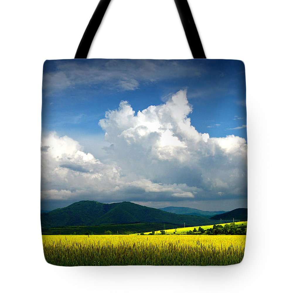 Summer Photograph Bulgaria Landscape Clouds Tote Bag featuring the photograph Summer Is Coming Soon by Stoyanka Ivanova