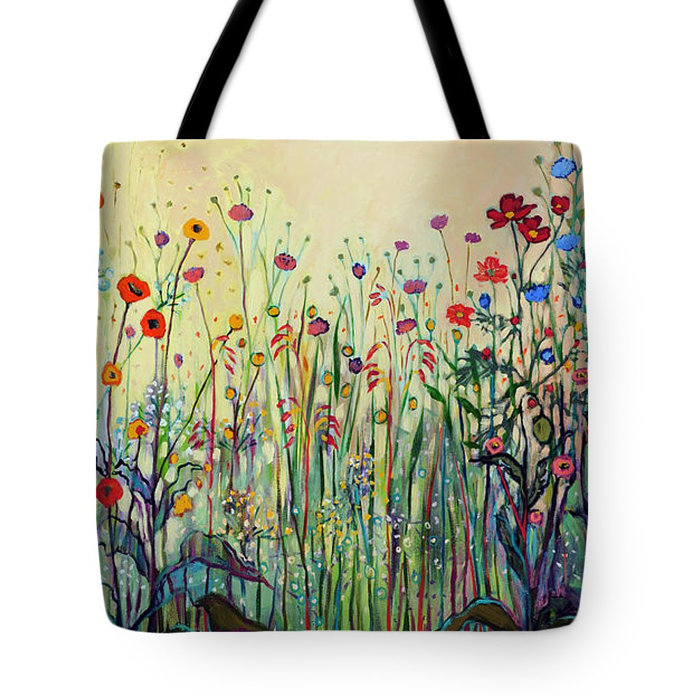 Floral Tote Bag featuring the painting Summer Joy by Jennifer Lommers