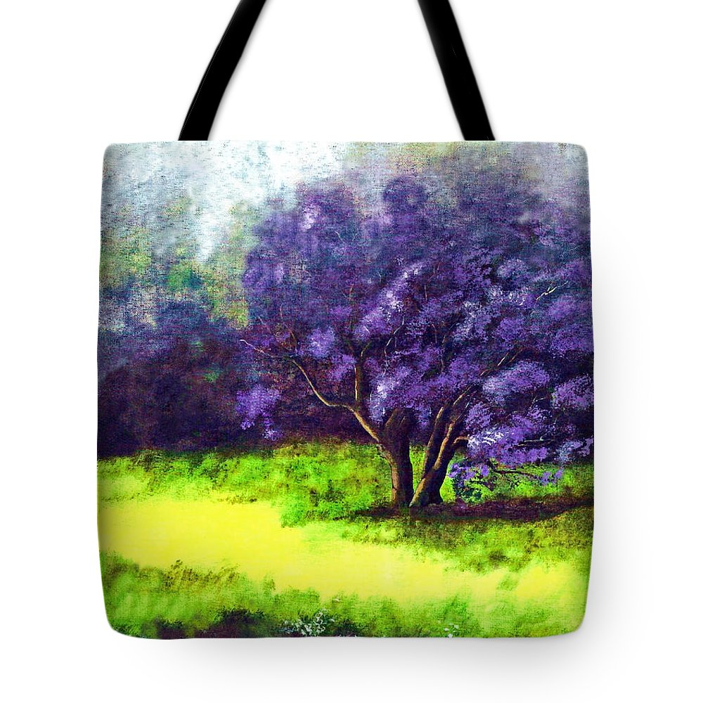 Fine Art Print Tote Bag featuring the painting Summer Mist by Patricia Griffin Brett