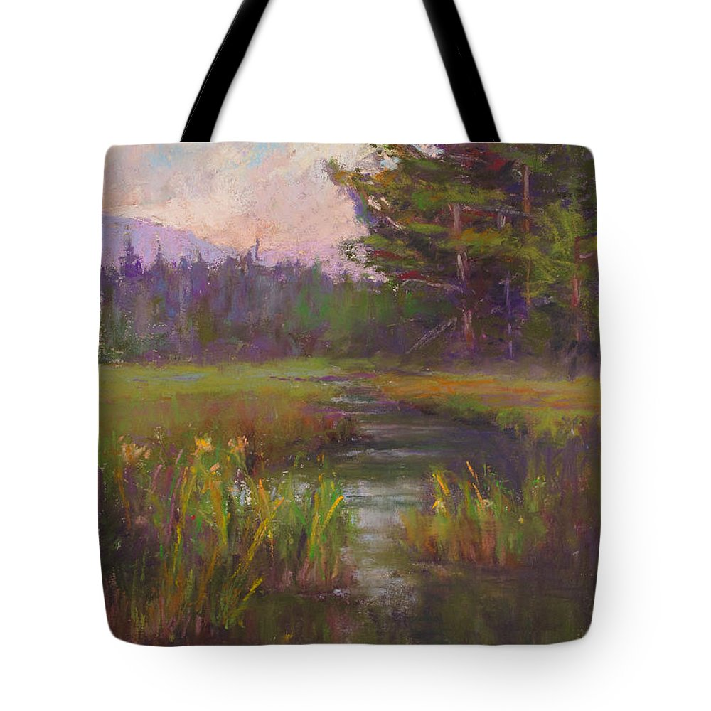 Landscapes Tote Bag featuring the painting Summer Morning Beaver Marsh by Susan Williamson