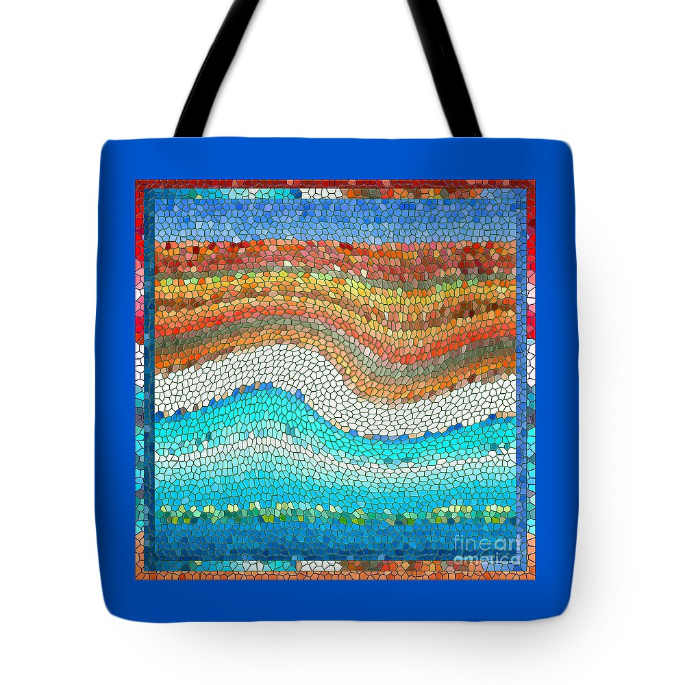 Colorful Tote Bag featuring the digital art Summer Mosaic by Melissa A Benson