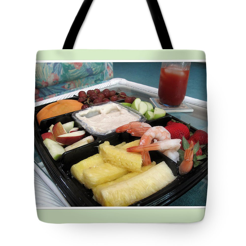 Fruit Tote Bag featuring the photograph Summer Nosh by Barbara McDevitt