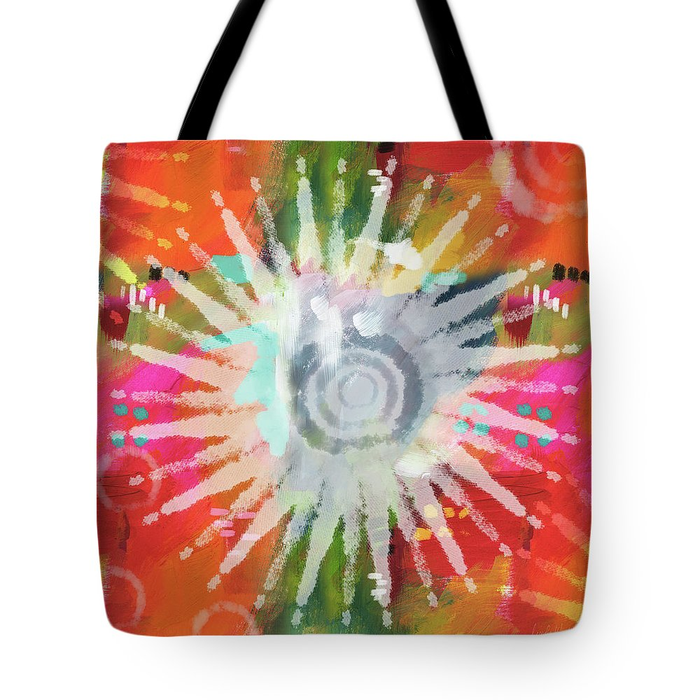 Groovy Tote Bag featuring the mixed media Summer Of Love- Art By Linda Woods by Linda Woods