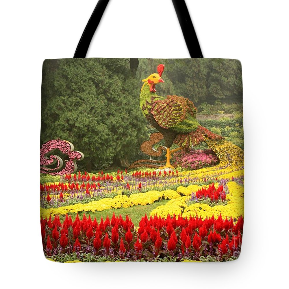 Phoenix Symbol Of Empress Tote Bag featuring the photograph Summer Palace Flower Phoenix by Carol Groenen