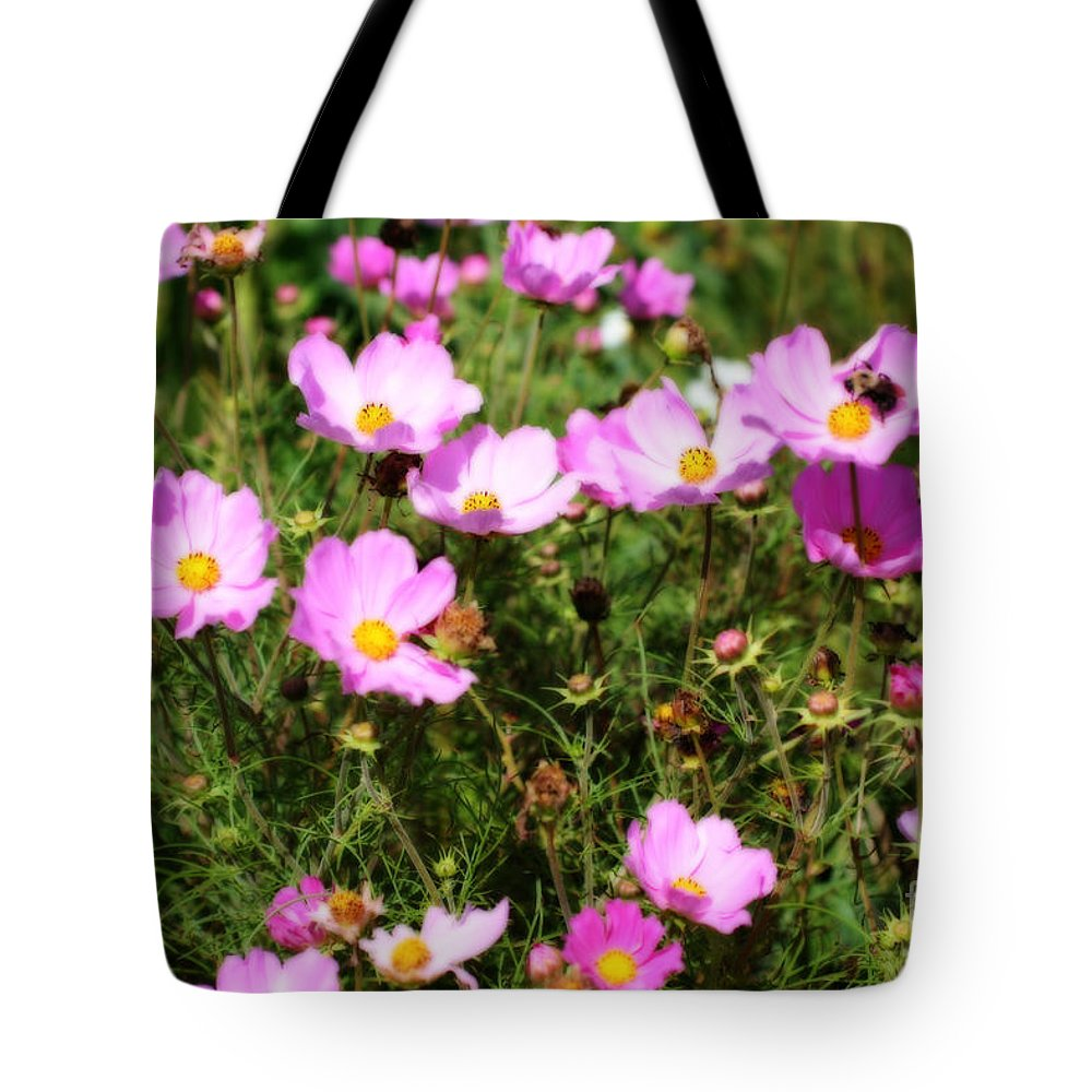 Flower Tote Bag featuring the photograph Summer Pink by Smilin Eyes Treasures